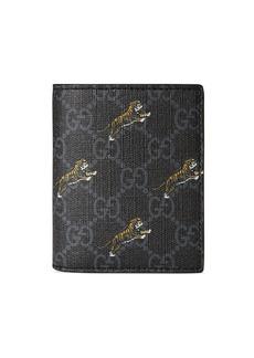 Gucci Men's GG Supreme Tiger-Print Wallet