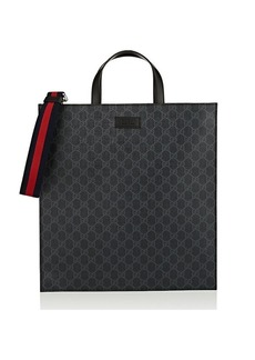 Gucci Men's GG Supreme Tote Bag - Black
