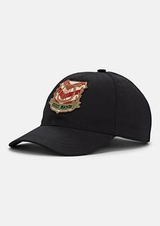 "Gucci Men's ""Gucci Band"" Harp-Motif Cotton Baseball Cap"