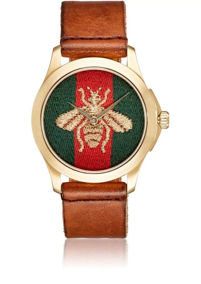 609e61e2d Gucci Gucci Men's Le Marché Des Merveilles Leather Watch - Brown ...