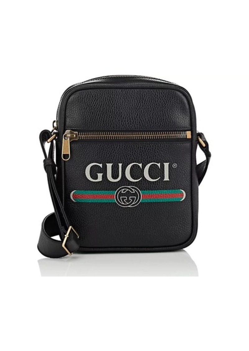 991aa8386000ee Gucci Gucci Men's Leather Messenger Bag - Black   Bags