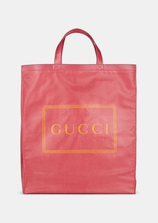 Gucci Men's Logo Coated Canvas Tote Bag - Pink