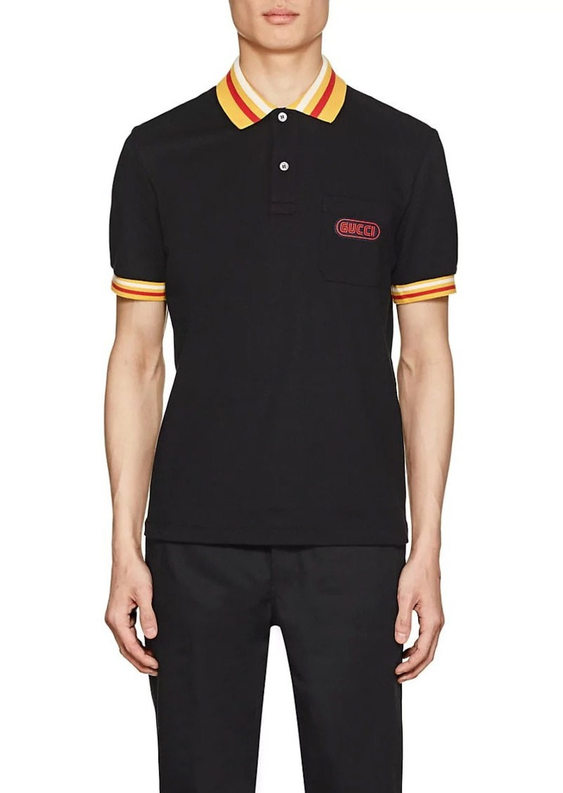 da453e52c5a4 Gucci Gucci Men's Logo-Detailed Stretch-Cotton Piqué Polo Shirt ...