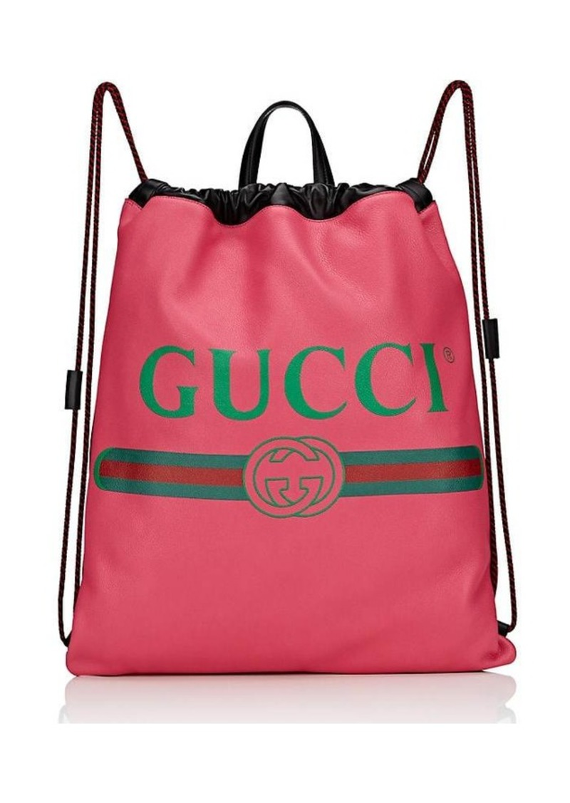 101b93ada0e2 Gucci Gucci Men s Logo Drawstring Backpack