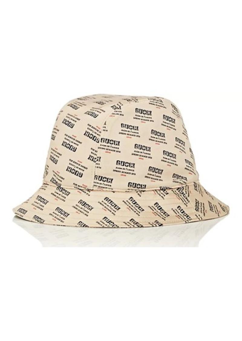 5cd8d8333 Men's Logo-Print Silk Satin Bucket Hat