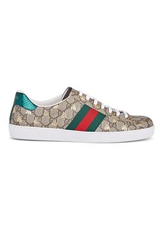 Gucci Men's New Ace Canvas Sneakers