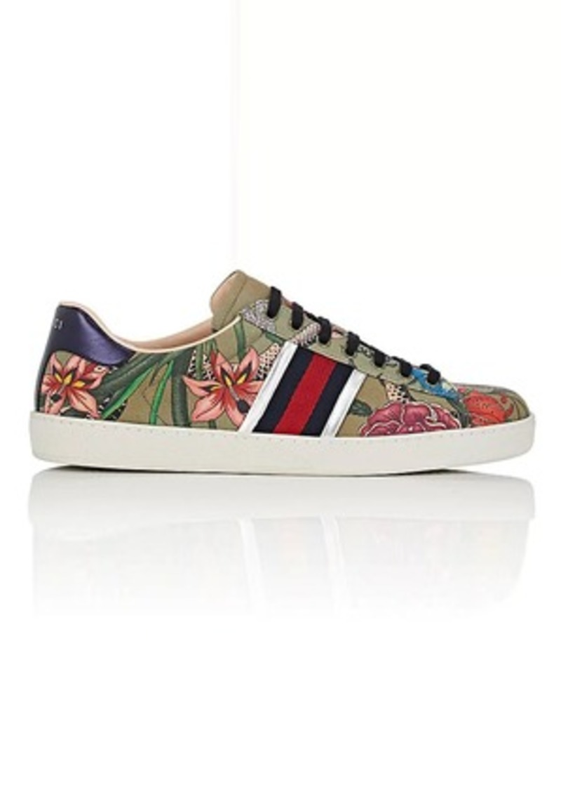 535ef7497 Gucci Gucci Men's Floral Snake-Print Canvas Sneakers | Shoes