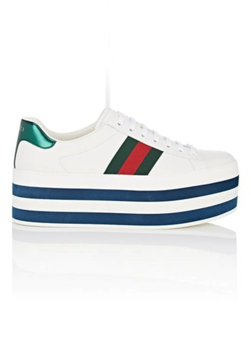 337d7405b712d On Sale today! Gucci Gucci Men s New Ace Leather Platform Sneakers