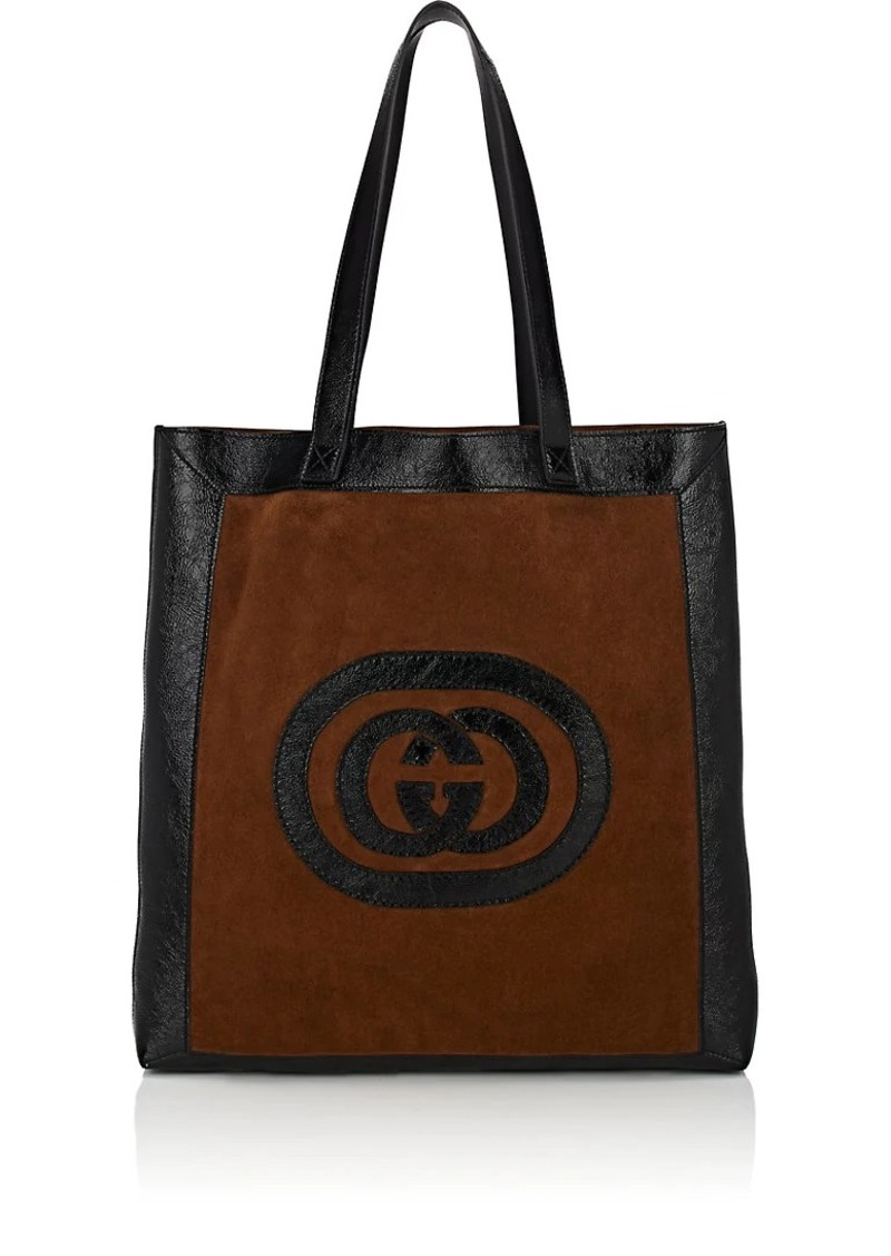 13c4ac837124 Gucci Gucci Men's Ophidia Large Logo Suede Tote Bag - Brown | Bags
