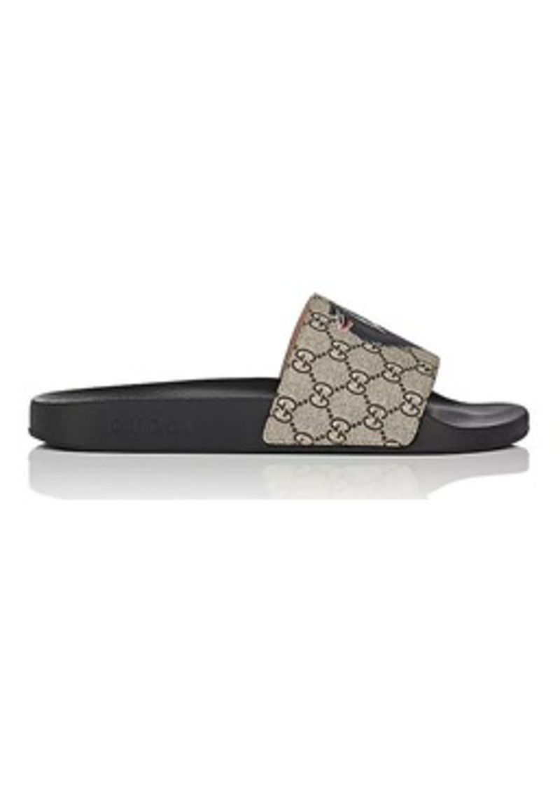 7f477b46b7d Gucci Gucci Men s Logo-Print Canvas Slide Sandals