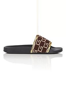 Gucci Men's Pursuit Knit Slide Sandals