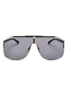 Gucci Men's Rimless Shield Sunglasses, 142mm
