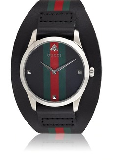Gucci Men's Striped Watch - Black