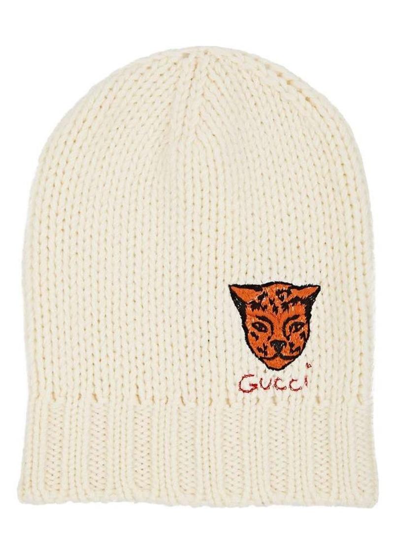 d97b057e83297 Gucci Gucci Men s Tiger-Appliquéd Wool Beanie