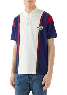 2065347578d3 Gucci Men s Vintage Colorblock Polo Shirt with Logo Patch