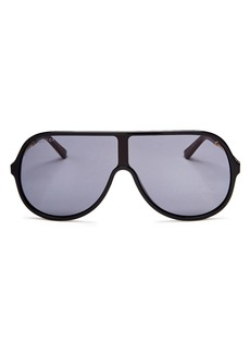 Gucci Men's Vintage Web Oversized Shield Sunglasses, 130mm