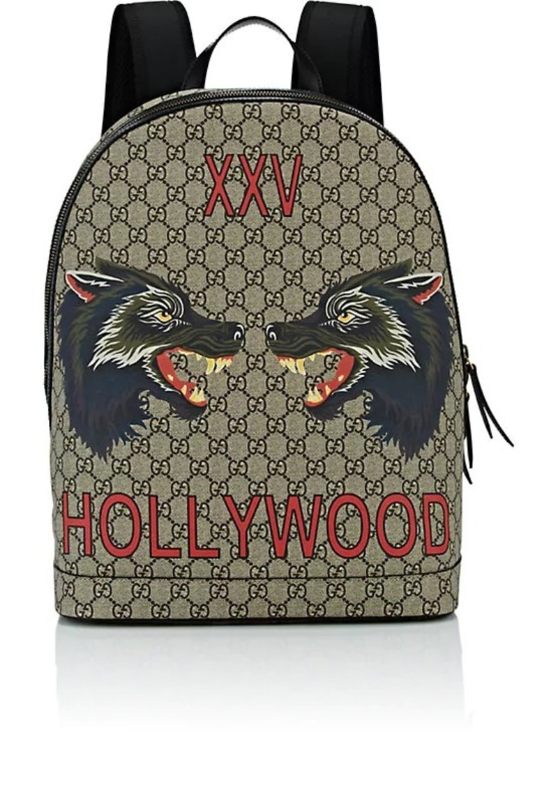 Gucci Gucci Men s Wolf-Print GG Supreme Backpack  33732f82b25bd