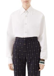 Gucci Menswear Label Cotton Poplin Top