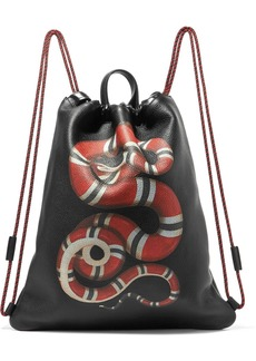 Gucci Merveilles Printed Textured-leather Backpack