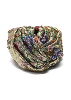 Gucci Metallic floral brocade turban hat