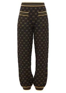 Gucci Metallic GG-jacquard track pants