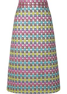 Gucci Metallic Jacquard Midi Skirt