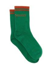 Gucci Metallic-logo cotton-blend socks