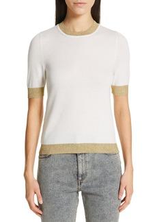 Gucci Metallic Trim Cashmere & Silk Sweater