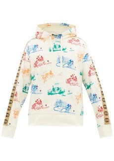Gucci Mickey Mouse-print cotton-jersey hooded sweatshirt