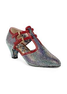 Gucci Mila Crystal Embellished T-Strap Pump (Women)