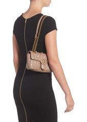 75cd8198fedb ... Gucci Mini GG Marmont 2.0 Imitation Pearl Logo Matelassé Leather  Shoulder Bag