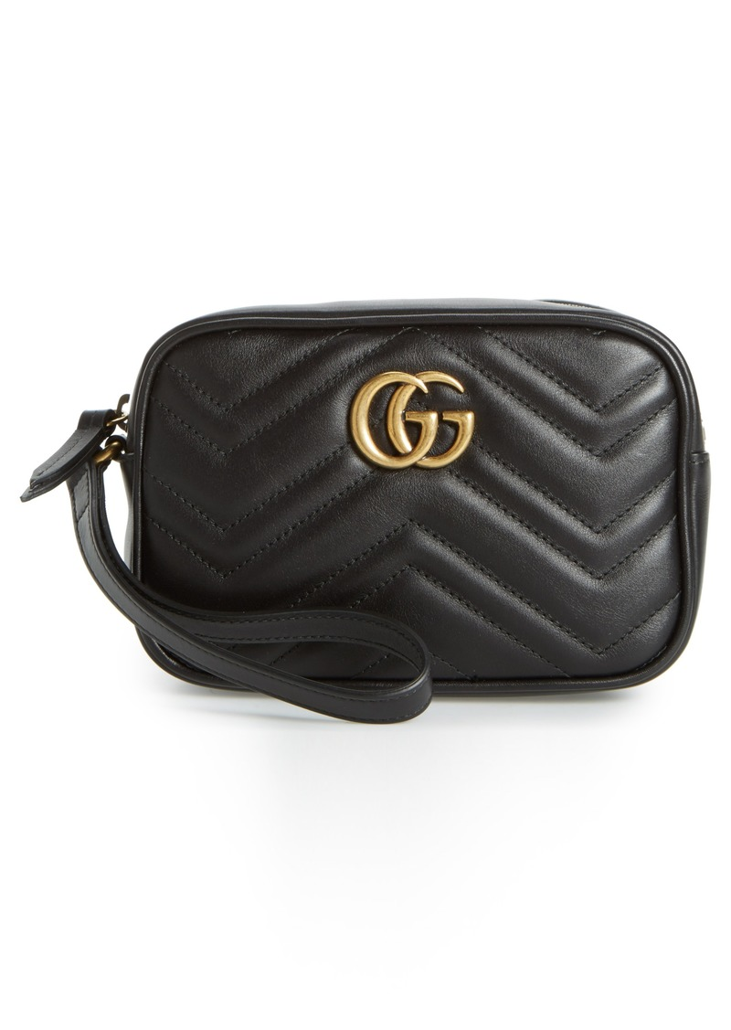 1e63fefb8c17 Gucci Gucci Mini GG Marmont 2.0 Matelassé Leather Wristlet | Handbags