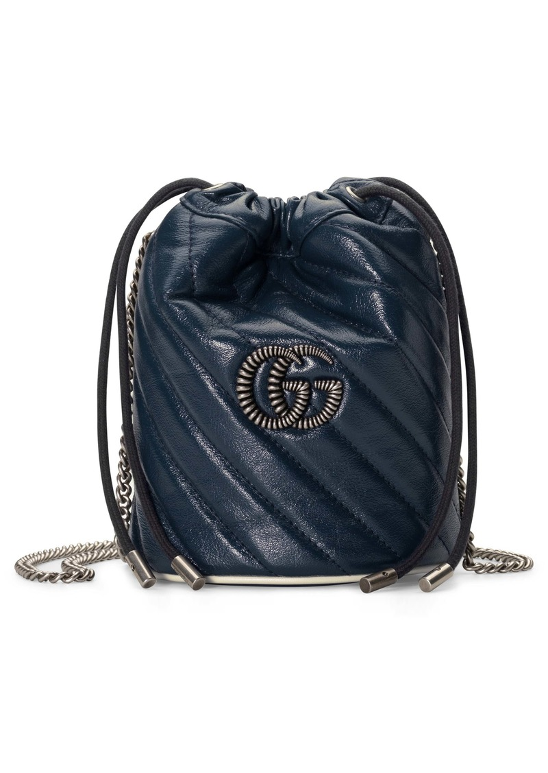 Gucci Mini GG Marmont Quilted Leather Bucket Bag
