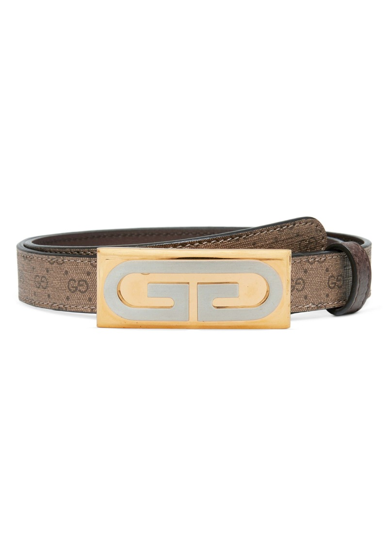Gucci Mini GG Supreme Plaque Belt