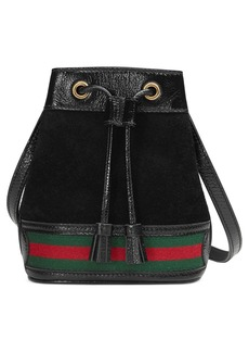 Gucci Mini Ophidia Suede & Leather Bucket Bag