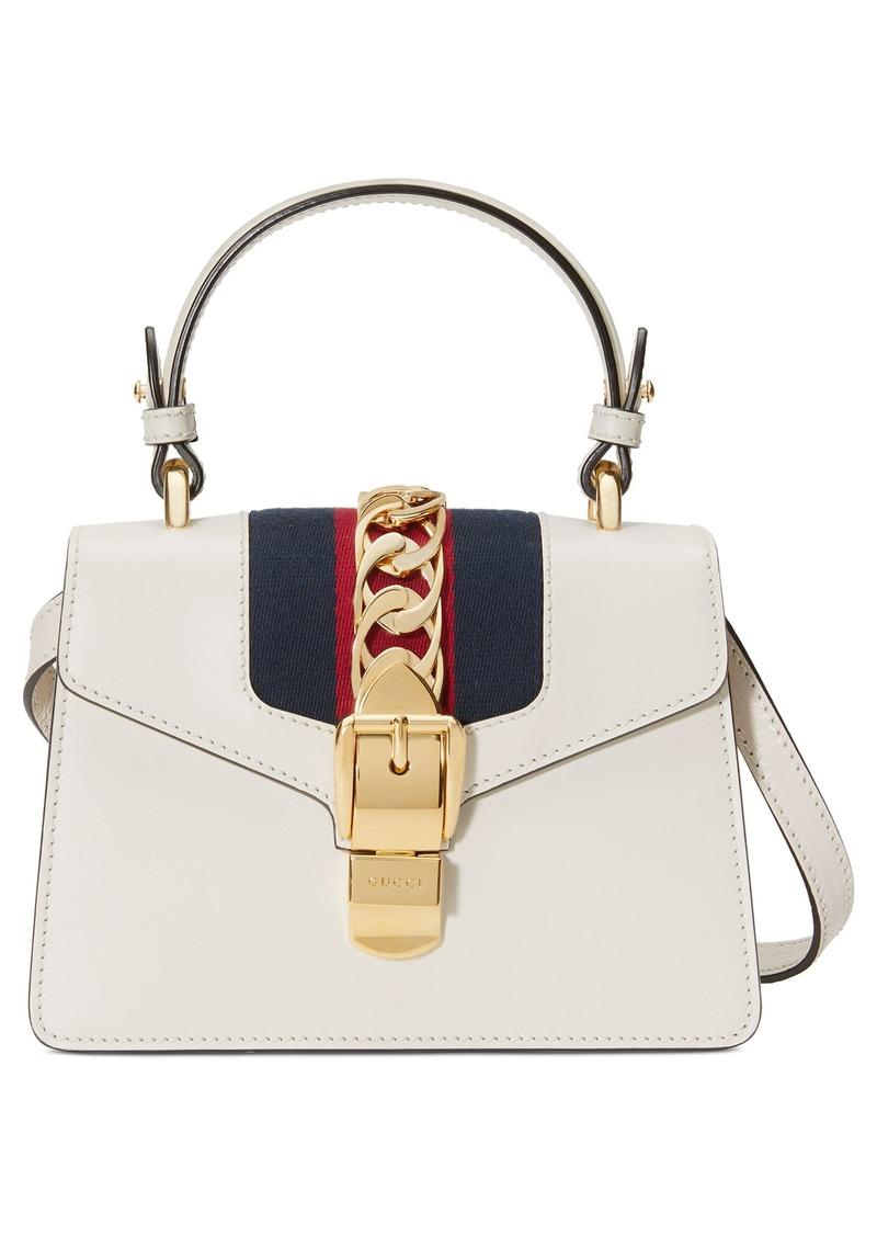 Gucci Gucci Mini Sylvie Top Handle Leather Shoulder Bag  f4ae0e535894f