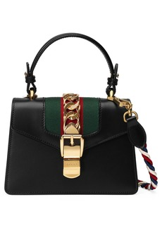 Gucci Mini Sylvie Top Handle Leather Shoulder Bag