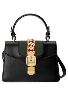 Gucci Mini Sylvie Top Handle Leather Shoulder Bag