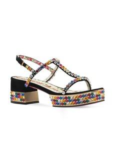 Gucci Mira Crystal Embellished Platform Sandal (Women)