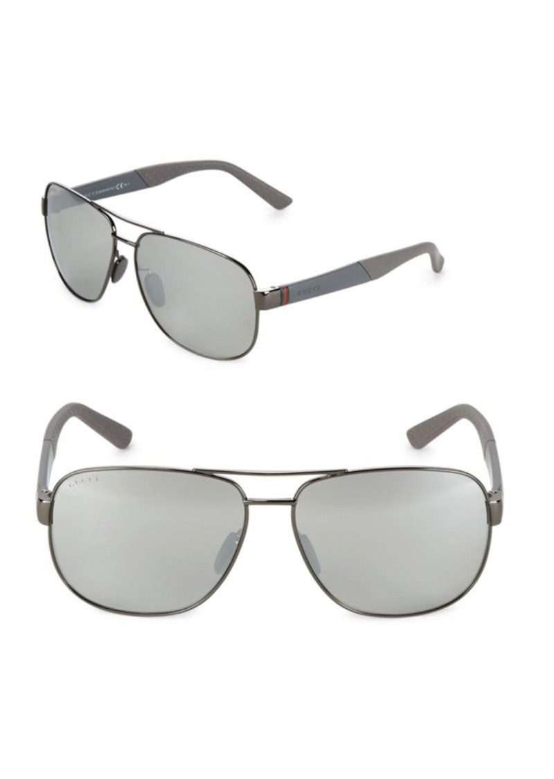41caa68d2bf Gucci Gucci 63MM Mirrored Aviator Sunglasses Now  149.99