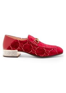Gucci Mister GG crystal-embellished velvet loafers
