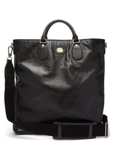 Gucci Moprheus logo-detail leather tote bag