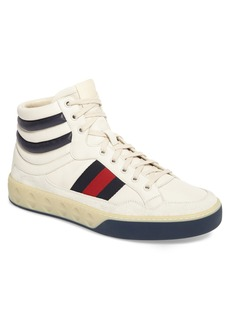 Gucci Leather High Top Sneaker (Men)