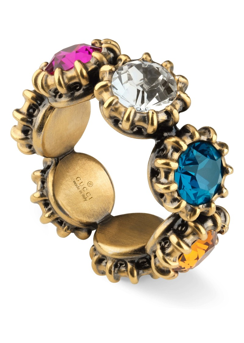 Gucci Multicolored Crystal Ring