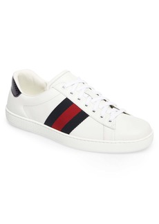 Gucci New Ace Clean Web Stripe Sneaker (Men)