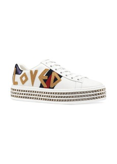 Gucci New Ace Crystal Embellished Flatform Sneaker (Women)