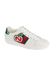 Gucci New Ace Double G Logo Cherry Sneaker (Women)