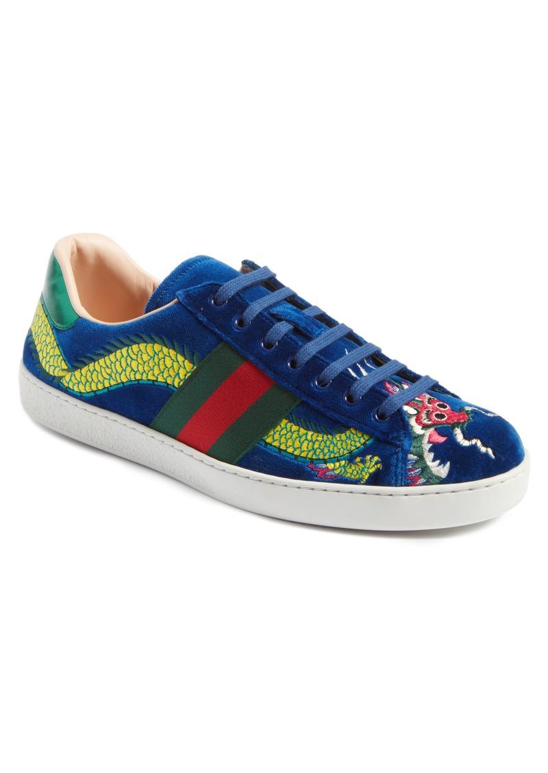gucci gucci new ace dragon sneaker men shoes shop it to me. Black Bedroom Furniture Sets. Home Design Ideas