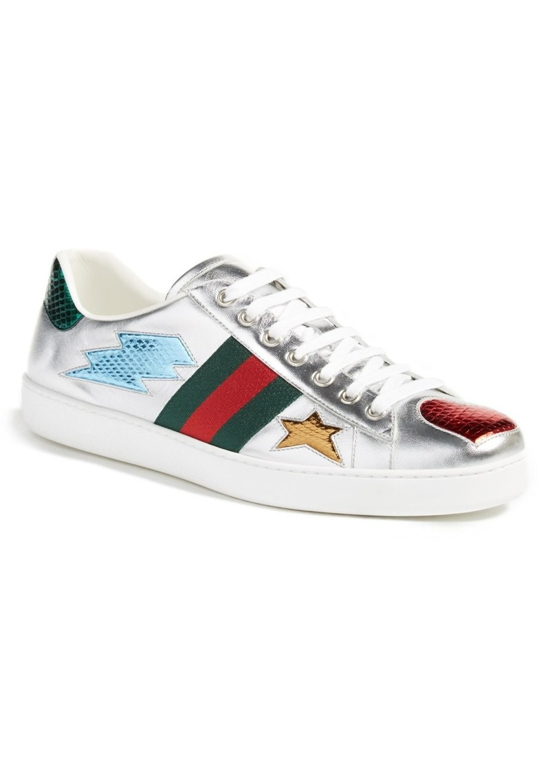 e839cf055497 Gucci Gucci  New Ace Emojis  Sneaker with Genuine Snakeskin Detail ...