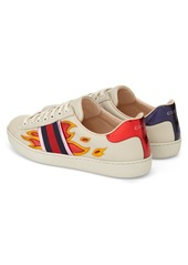 294678740 Gucci Gucci 'New Ace Flames' Sneaker with Genuine Snakeskin Detail ...